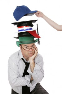 """A photo for our tip """"Wear One Hat at a Time"""""""
